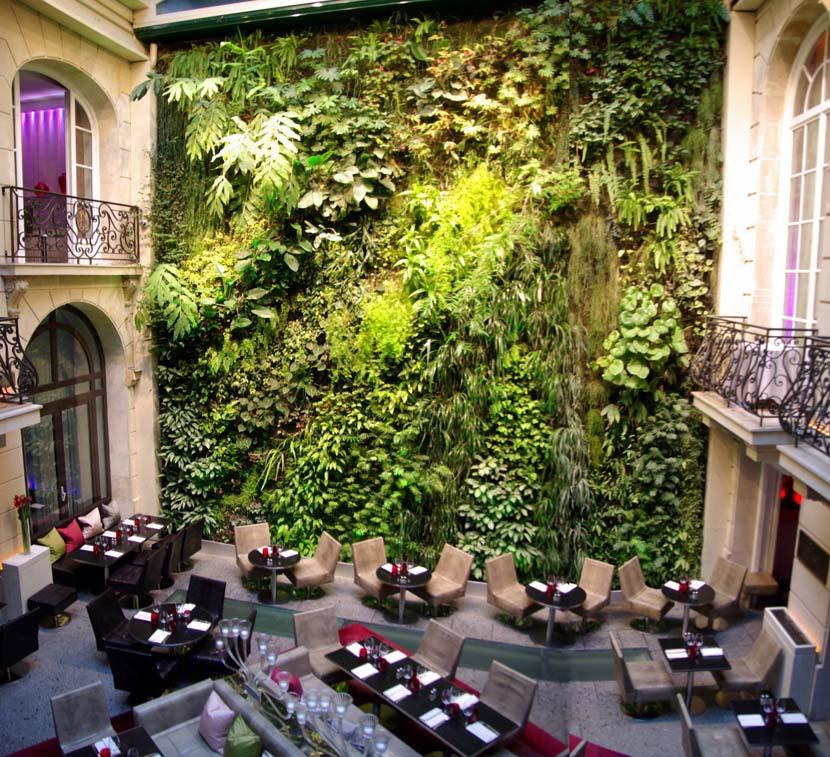mẫu vườn đứng nhà hàng khách sạn