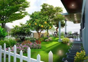 Đơn giản hóa trong thiết kế sân vườn